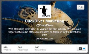 Duck Diver Twitter profile