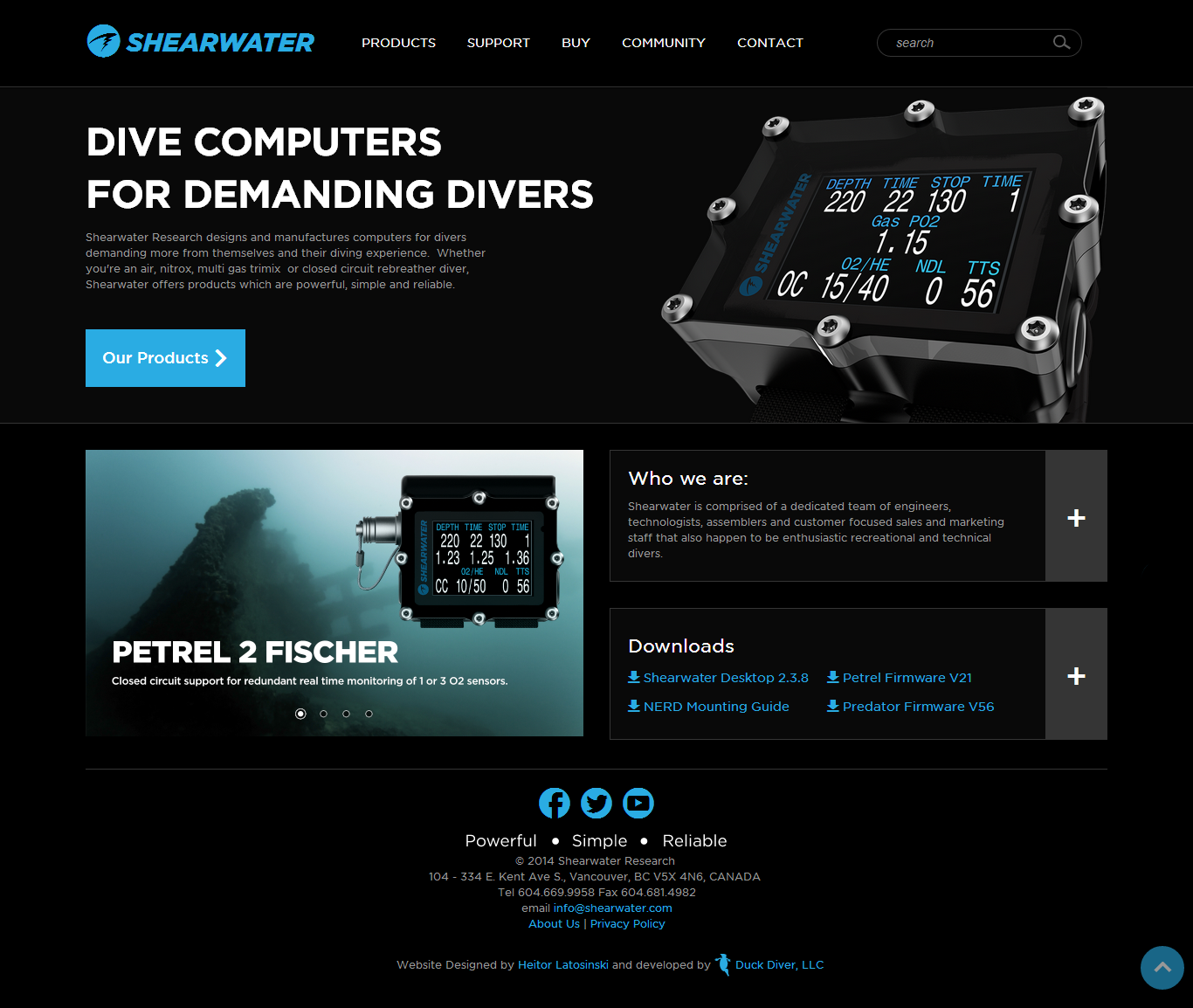 Shearwater Dive Computers